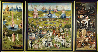 "Hieronymus Bosch ""The Garden of Earthly Delights""  1500-1505. image courtesy of www.metmuseum.org"