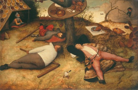 "Pieter Brueghel ""Land of Cockaigne"" 1567. image courtesy of www.pinakothek.de"