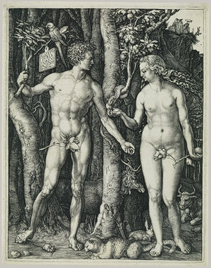 "Albrecht Durer ""Adam and Eve"" 1504. image courtesy of www.metmuseum.org"