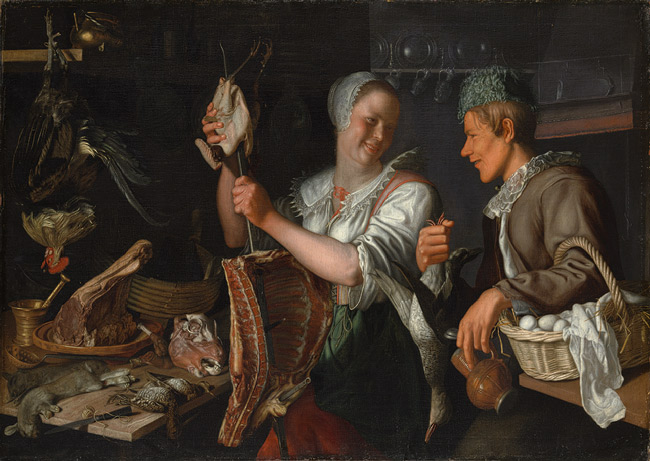 "Pieter Wtewael ""Kitchen Scene"" c. 1620. image courtesy of www.metmuseum.org"