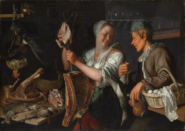 "Pieter Wtewael ""Kitchen Scene"" c. 1620. image courtesy of www.metmuseum.org"