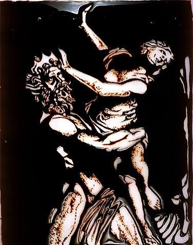 "Vic Muniz ""Pluto and Proserpina, after Bernini"" 2003. image courtesy of www.artnet.com"