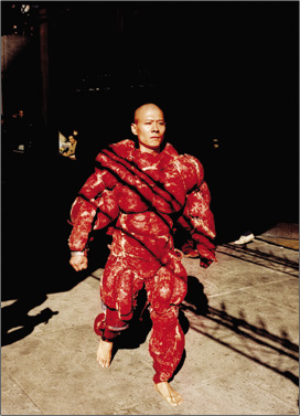 "Zhang Huan ""My New York"" 2002. image courtesy of www.zhanghuan.com"