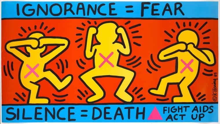 Keith Haring, Ignorance, 1989.