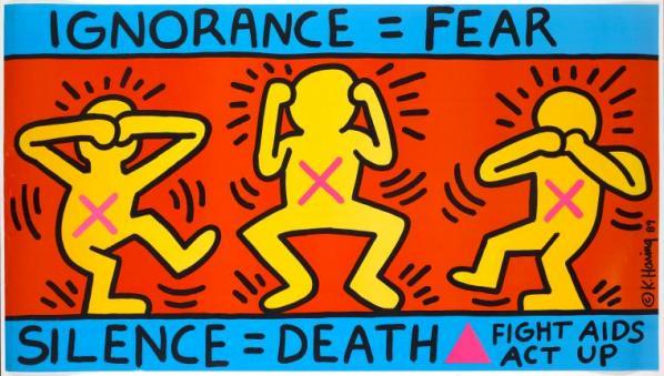 Keith Haring, Ignorance, 1989.