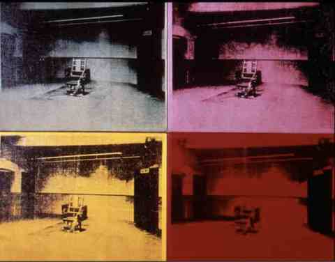 "Andy Warhol, ""Electric Chair"", 1971. image courtesy of www.propofs.com"
