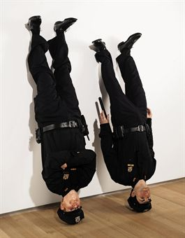 Muarizio Cattelan, Frank and Jamie, 2002. image courtesy of ww.christies.com