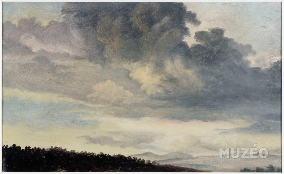 Valenciennes's  A Rome: Etude de ciel de Nuages, ca. 1778-86. image courtesy of www.fr.muzeo.com
