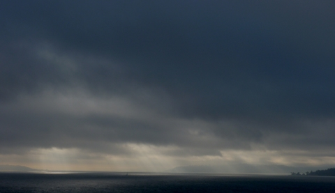 Foreboding clouds over Puget Sound