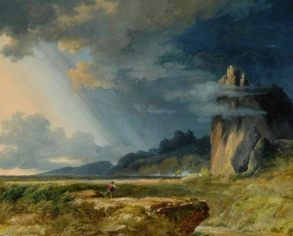 Pierre-Henri de Valenciennes, Landscape, Storm, ca.1817. image courtesy of www.bbc.co.uk