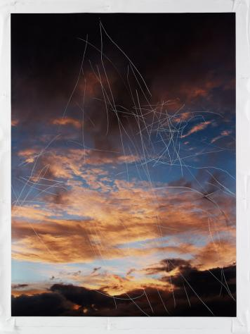 Jim Hodges, Untitled (Scratched Sky, 1) 2011. image courtesy of www.gladstonegallery.com