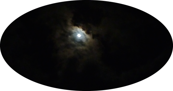 drama of the moonlit cloud over a St. Lucia night