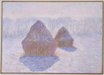 Claude Monet, Haystacks (Effect of Snow and Sun), 1891. image courtesy of www.metmuseum.org