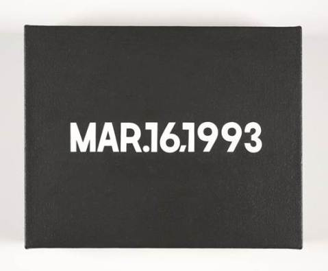 On Kawara, Mar.16,1993. From Today series. SFMOMA collection