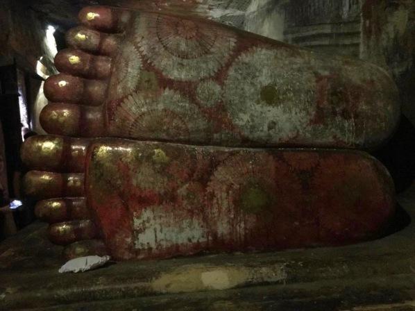 big painted feet