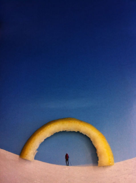 Nina Katchadourian, Lemon Arch, Seat Assignment project, 2010_ongoing, 2015, C-print, 45 × 35 in